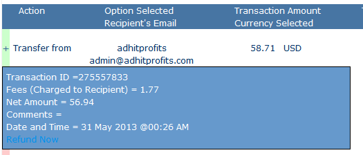 first adhitprofts withdrawal