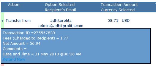 first adhitprofts withdrawal